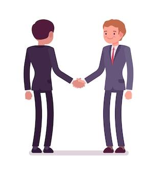Handshaking dei soci commerciali