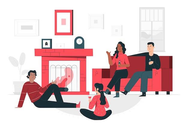 Hangout illustrazione del concetto