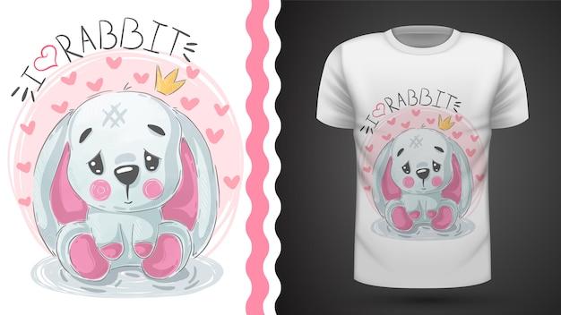 Happer easter, rabbit - ideafor t-shirt stampata