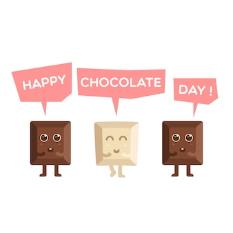 Happy chocolate day simpatico cartone animato