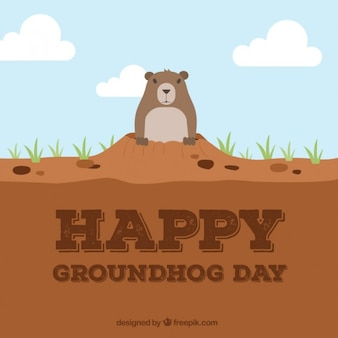 Happy day groundhog