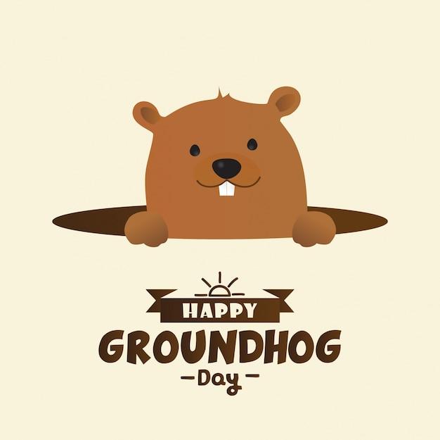 Happy day marmotta design con simpatico personaggio marmotta