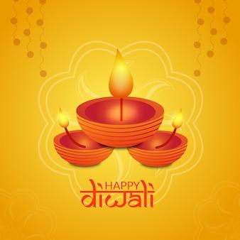 Happy diwali design creativo tradizionale
