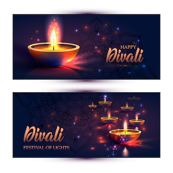Happy diwali festival di luci