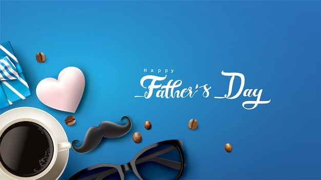 Happy father's day design con divertente concetto e colori pastello