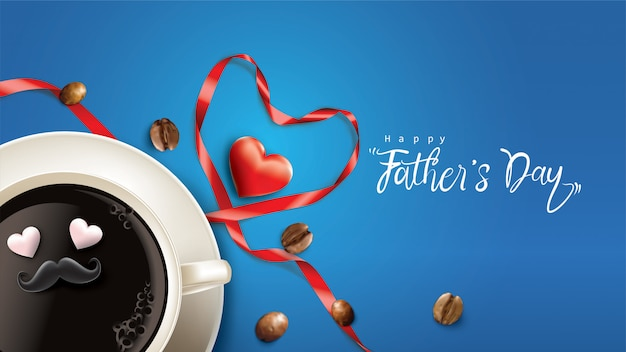 Happy father's day design con divertente concetto