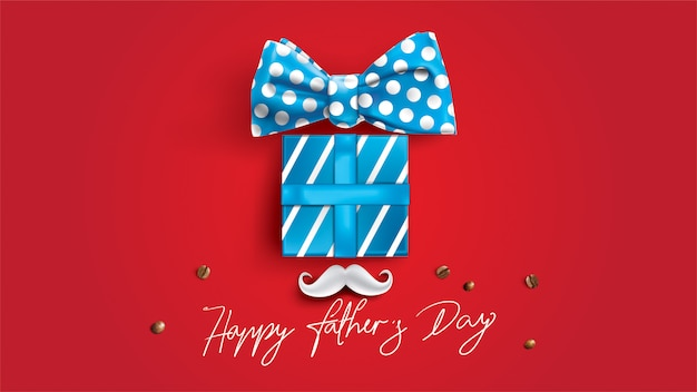 Happy fathers day design con divertente concetto