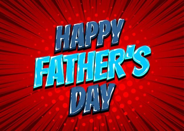 Happy fathers day fumetto pop art