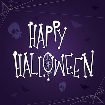 Happy halloween scritte con ossa