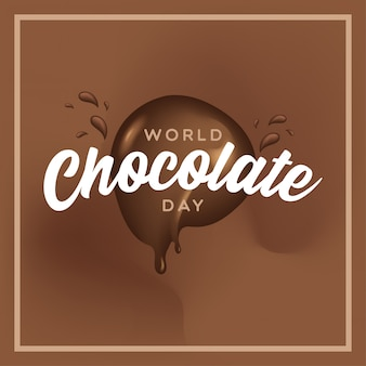 Happy hocolate day fusione fluido illustrazione