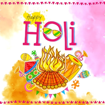Happy hoil background per festival di colori in india.