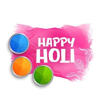 Happy holi colora lo sfondo con la polvere di gulal