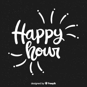 Happy hour scritte sulla lavagna
