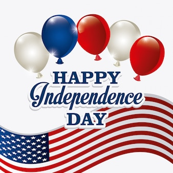 Happy independence day 4 luglio usa design