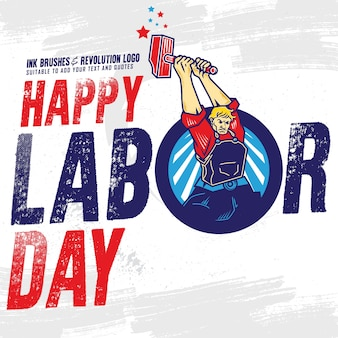 Happy labour day banner