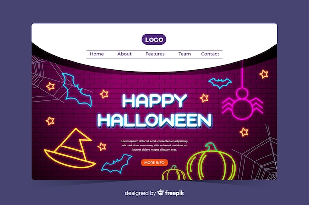 Happy landing page di halloween