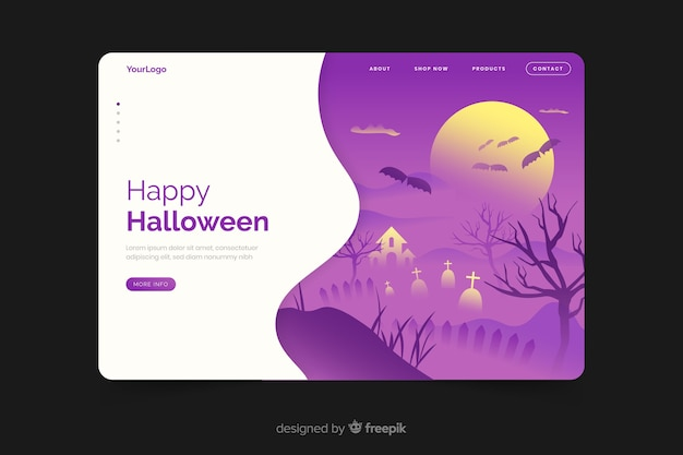 Happy landing page di halloween