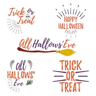 Happy lettering di halloween. dolcetto o scherzetto. la vigilia di ognissanti