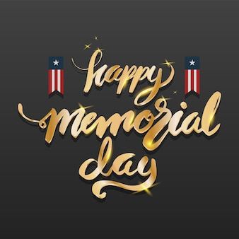 Happy memorial day lettering.