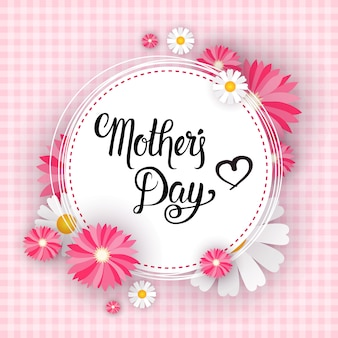 Happy mother day, banner di cartolina d'auguri di primavera