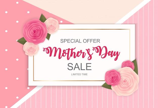 Happy mother s day banner di vendita carino