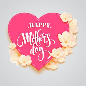 Happy mother's frame in pink love frame