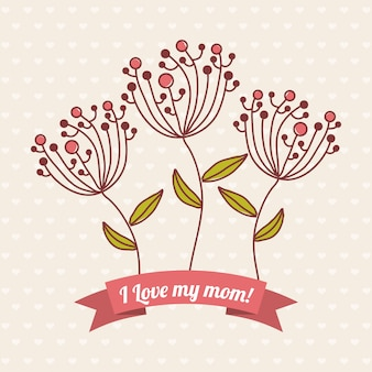 Happy mothers day card illustrazione vettoriale