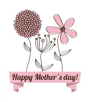 Happy mothers day card illustrazione vettoriale