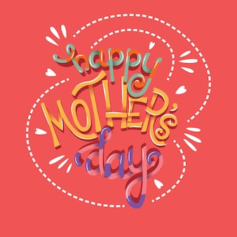 Happy mothers day lettering a mano