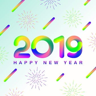 Happy new year 2019_gradient style