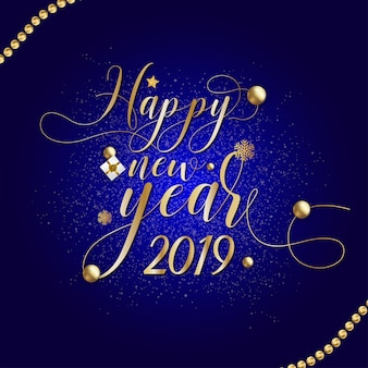 Happy new year card 2019