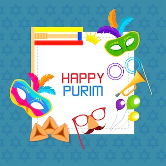 Happy passover holiday purim
