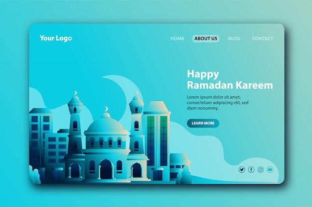 Happy ramadan kareem landing page