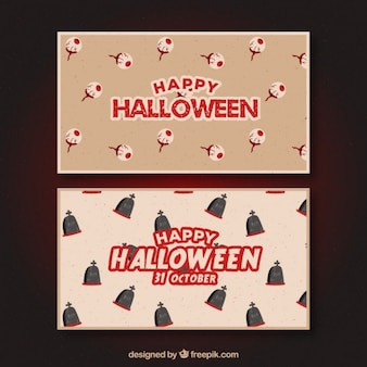Happy retrò banner halloween