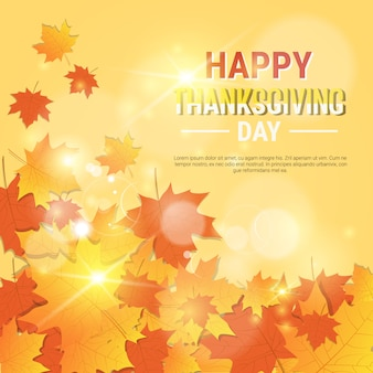 Happy thanksgiving day autumn traditional greeting card