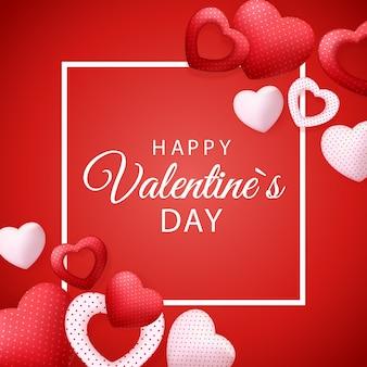 Happy valentines day card con il cuore.