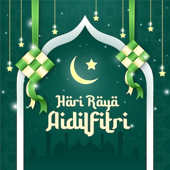 Hari raya aidilfitri social media post design