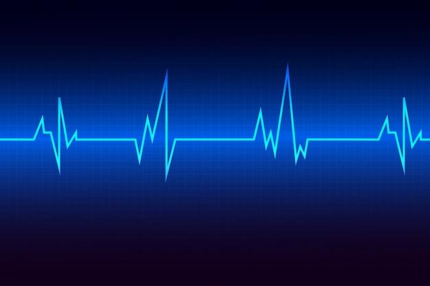 Heart pulse monitor blu con segnale