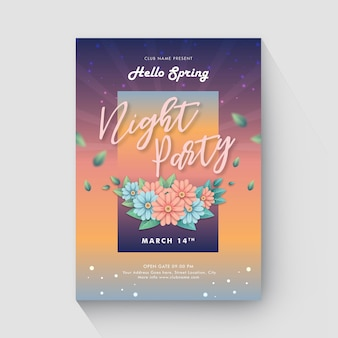 Hello spring flyer night party