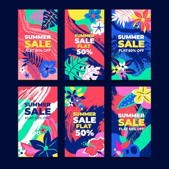 Hello summer sale instagram story pack