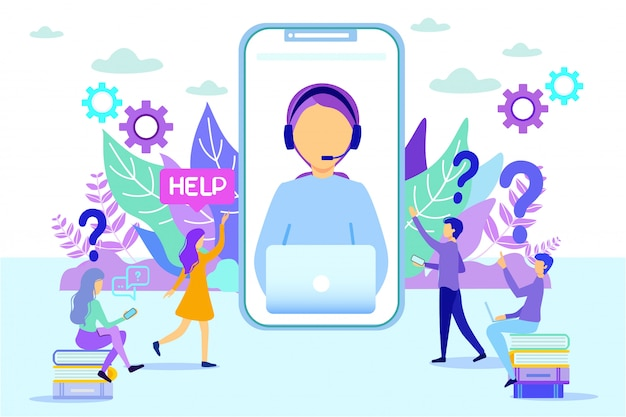 Helpdesk di chiamata del cliente della gente consultantesi della donna