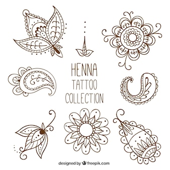 Henna tattoo studio, stile disegnato a mano