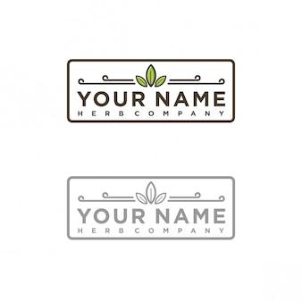 Herb company logo design