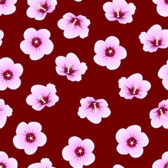 Hibiscus syriacus - rose of sharon su sfondo rosso indaco