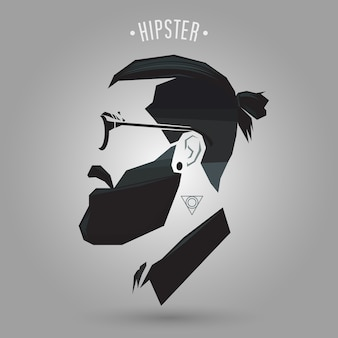 Hipster acconciatura