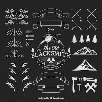 Hipster logos ornamenti