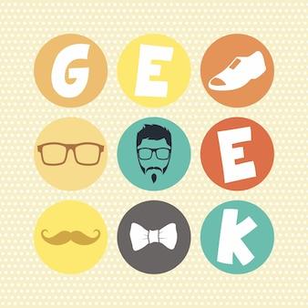 Hipster retrò geek