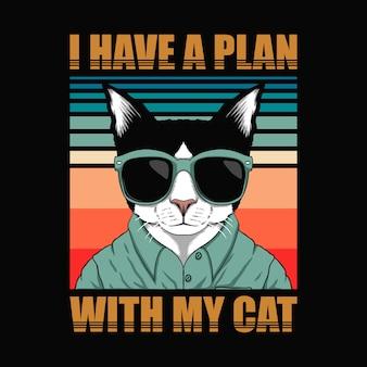 Ho un piano con il mio gatto retrò.