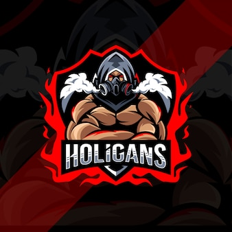 Holigans mascotte logo esport design