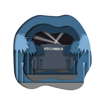 Hollywood paper art